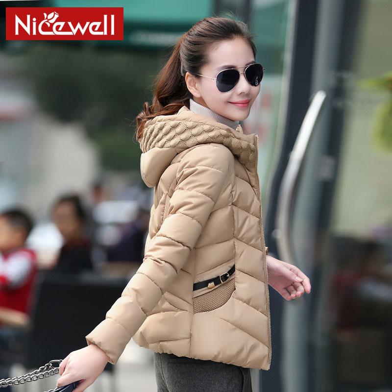 】棉衣女短款Nicewell2014新款冬装外套女装棉服韩版拼接小棉袄加厚