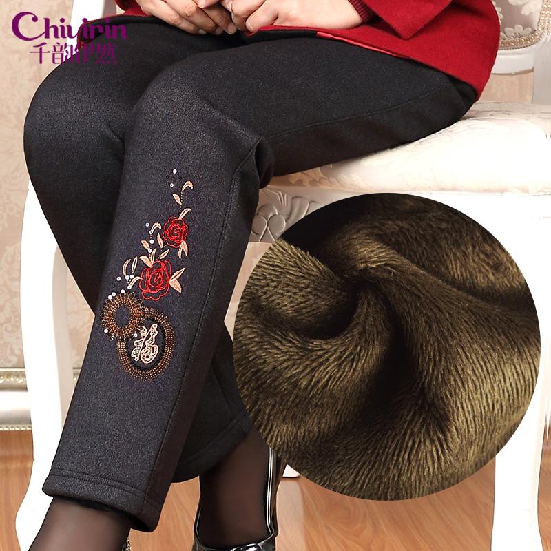 】中老年女装裤子外穿大码棉裤妈妈装冬装加厚加绒奶奶老年人保暖裤