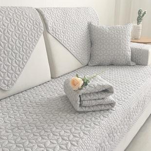 沙发垫四季通用全棉布艺防滑坐垫简约现代客厅北欧沙发套沙发巾罩