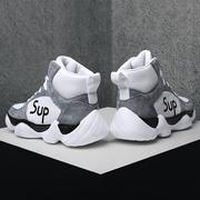 鞋子男潮鞋百搭冬季高帮男士运动鞋网红中帮鞋aj棉鞋加绒冬鞋