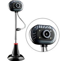 高清USB台式机电脑外置摄像头带麦克风话筒网吧夜视雨花石USB免驱