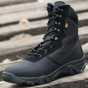 春秋迷彩军靴男女特种兵作战靴野外战术靴户外登山陆战靴超轻透气