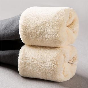 超厚羊羔绒打底裤女秋冬季加绒高腰保暖外穿显瘦大码棉裤子女
