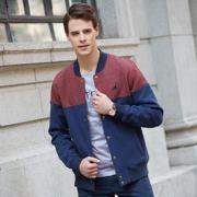 欧美英伦风格冬季男装 宽松型双层加厚侧缝插袋男士夹克