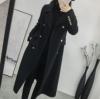 黑色毛呢外套女中长款显瘦秋冬季2018赫本呢子大衣女