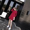 冷系高冷范女装气质港味复古红色超仙温柔裙秋冬女神范衣服连衣裙