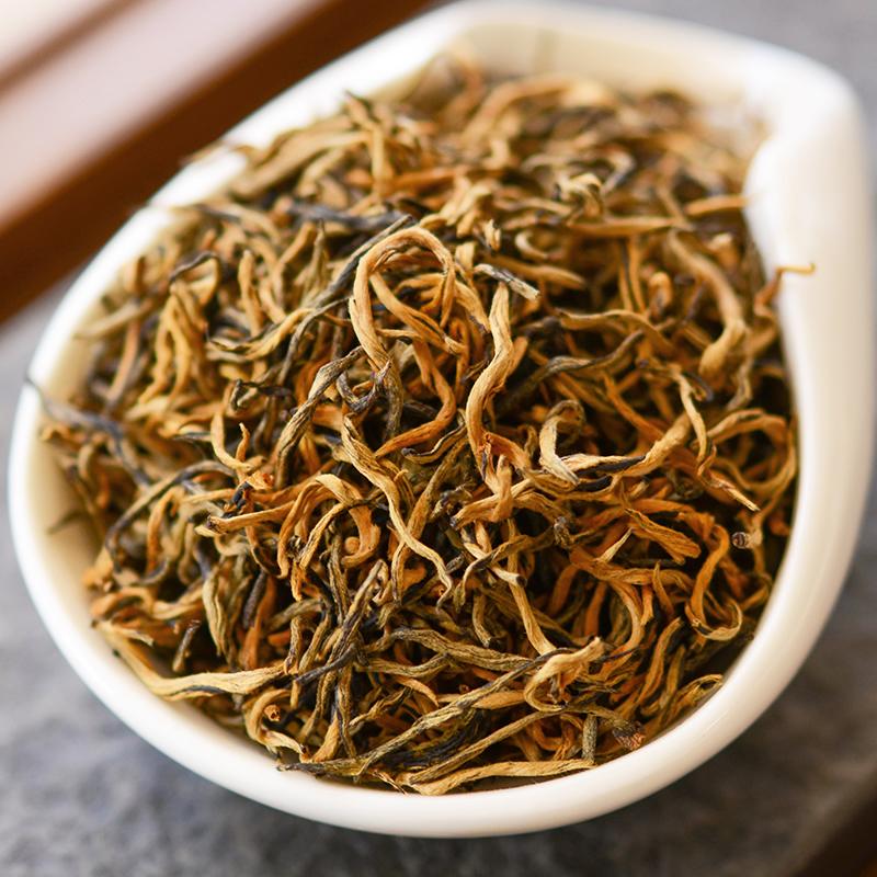 百花吟 云南滇红茶 浓香型凤庆古树红茶 特级蜜香金芽大金丝200克