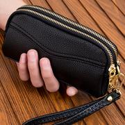 2021双拉链手拿包女式时尚小手包手机包零钱包简约女包手抓包