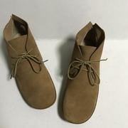 日系素人女鞋清新复古森林系真皮圆头文艺舒适平跟系带女单鞋