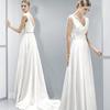 长款晚礼服2021双肩V领宴会年会礼服伴娘服订婚礼服姐妹裙女