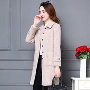 2018冬季仿水貂绒外套中长款显瘦妈妈女装洋气金貂绒上衣