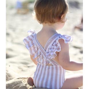 儿童泳衣女小公主女童连体ins韩国婴儿宝宝女孩游泳衣可爱泳装
