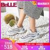 百丽老爹鞋女鞋2019单鞋亮片运动风厚底松糕鞋BG621AM9