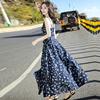 沙滩裙海边度假巴厘岛超仙吊带长裙三亚波西米亚连衣裙2019夏