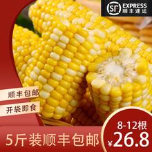 云南水果玉米开袋即食甜玉米棒代餐免煮真空包装新货5斤装8-12根