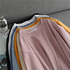 慵懒风纯棉宽松显瘦大码长袖圆领套头打底衫女 T恤上衣