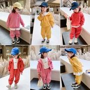 女童秋装套装运动两件套童装2021秋季韩版洋气春秋网红三件套