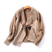 冰点直降J¥20毛衣外套女宽松针织衫百搭开衫麂皮绒