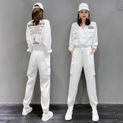 2020秋季运动服套装女潮牌时尚洋气长袖气质束脚工装裤休闲两件套