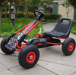 儿童卡丁车四轮脚踏运动玩具汽车可坐宝宝充气轮胎健身自行车