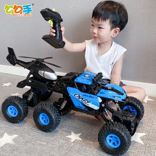 勾勾手遥控越野车高速四驱攀爬充电动遥控汽车儿童男玩具赛车大号
