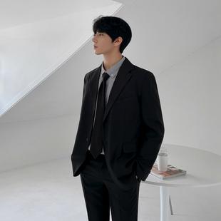 MRCYC韩版休闲小西装外套秋冬季帅气西服外套单西潮流男士上衣