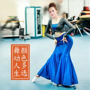 傣族舞蹈服装成人女演出服练功舞裙长裙孔雀舞蹈表演服舞蹈练习裙