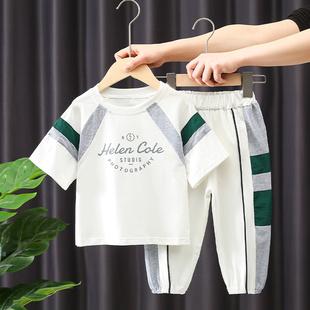 男童夏装套装2021年儿童短袖两件套宝宝帅洋气休闲韩版衣服潮
