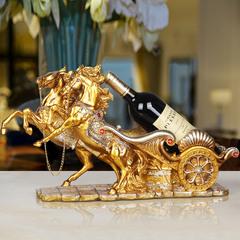 金福喜 欧式创意红酒架子摆件家居酒柜装饰品家用马摆设奢华客厅