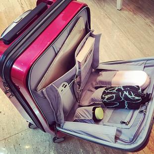 达得利拉杆箱女行李箱万向轮小24寸男18寸旅行箱包红登机箱子