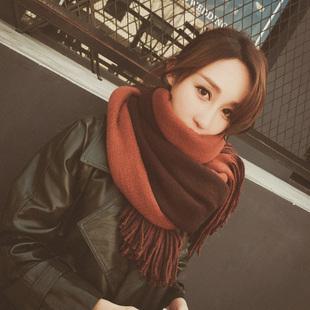 围巾女冬季秋加厚学生保暖披肩百搭双面针织毛线围脖两用
