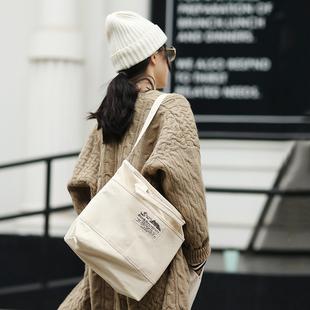 花吉P891人手一个帆布包 黑白色手拎包单肩包 文艺女包 春0121