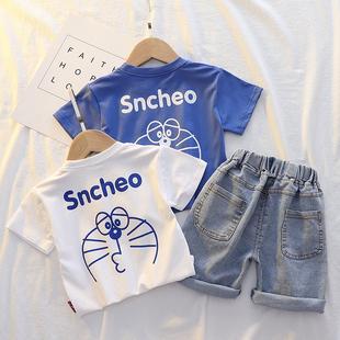 男童夏装套装2021宝宝洋气夏季两件套儿童帅气衣服网红童装潮