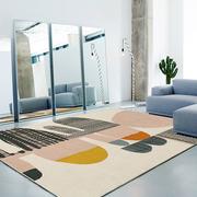 地毯卧室客厅ins网红房间茶几毯床边北欧简约沙发地垫床下