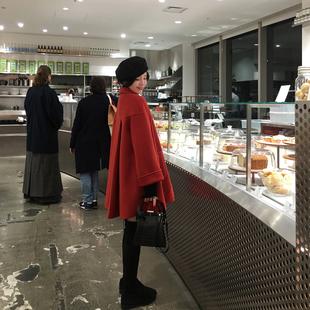 ASM2018冬季经典A字毛呢外套中长款气质宽松羊毛大衣女装