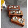 狗碗食水盆不锈钢双碗单碗大型犬狗盆宠物餐桌大号狗饭盆碗架金毛