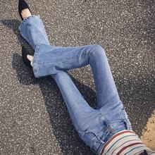垂感牛仔喇叭裤女春2019高腰显瘦长裤阔腿复古港风微喇裤