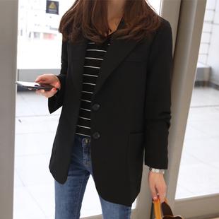 蕾可妮斯小西装女2019春秋女士西服长袖显瘦短款外套
