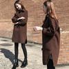 2018冬季女装时尚气质宽松中长款呢子大衣茧型毛呢外套女