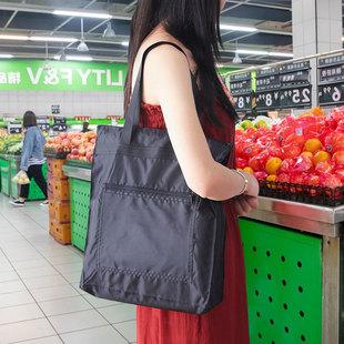 防水手提袋帆布袋定制logo 大容量袋子折叠便携买菜包环保购物袋