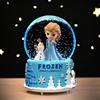 艾莎公主水晶球音乐盒八音盒旋转小女孩儿童冰雪奇缘爱莎生日礼物