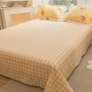 全棉床单单件公主风 少女心100纯棉学生宿舍夏季单人双人被单被罩