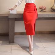 韩版高腰修身显瘦A字裙半身裙2021女装春季