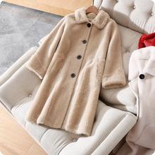 这个价等于白捡超值反季款羊剪绒皮毛一体中长款大衣外套女
