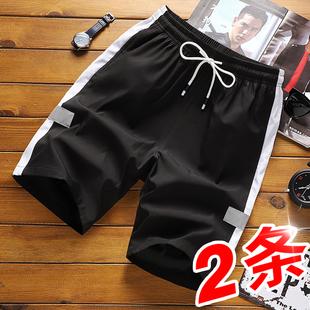 短裤男夏季五分裤男士潮流宽松中裤子2019沙滩裤
