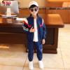 米西果童装儿童运动套装洋气2020年春秋帅气两件套时髦中大童