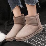 雪地靴女2018冬季短筒百搭学生厚底棉鞋女加绒加厚短靴子