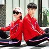 欧美品牌青年时尚情侣运动套装春秋外套卫衣服两件套秋季