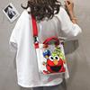 帆布大包包女包2019大容量手提涂鸦卡通可爱单肩斜挎包潮