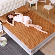 竹席凉席网红款床笠款夏空调软席1.5米1.8双人可折叠竹纤维席子软